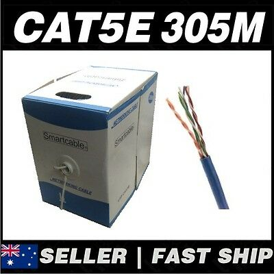 1 x 305m Cat5 Cat5 CAT5e 100Mbps Solid Core Ethernet Network LAN Patch Cable