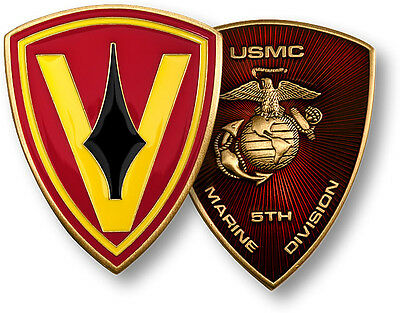 NEW USMC 5th Marine Division - The Spearhead Challenge Coin. 60623.