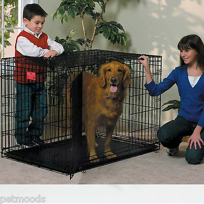 MidWest LIFE STAGES Large DOUBLE Door Metal Dog Crate 1642DD 26-40 lb Dog L-42""
