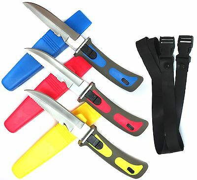 1 x Diving Knive Rescue Diver Tool Fishing Hunting Outdoor w Leg Strap Free Ship