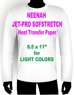 "Inkjet Iron On Heat Transfer Paper Neenah Jetpro Sofstretch 8.5 X 11"" - 95 Pk"