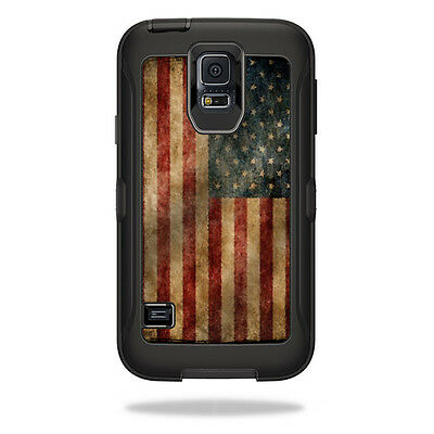 Skin Decal Wrap for OtterBox Defender Samsung Galaxy S5 Case Vintage Flag