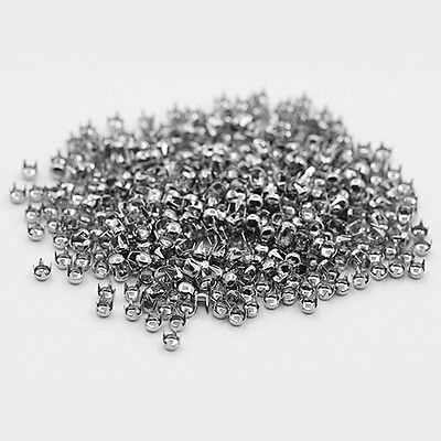 "500 Pcs Lots Silver Leathercraft DIY Round Studs Spikes Rivets Punk 0.16"" BHCU"