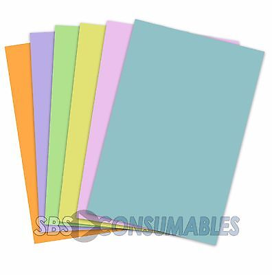 A4 Pastel Card Pack. 6 Assorted Pastel Colours. 160gsm 60 Sheets. Clairefontaine