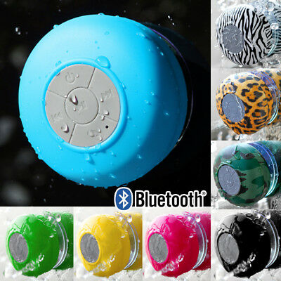 Waterproof Wireless Car Bluetooth Shower Music Speaker Handsfree MIC Suction