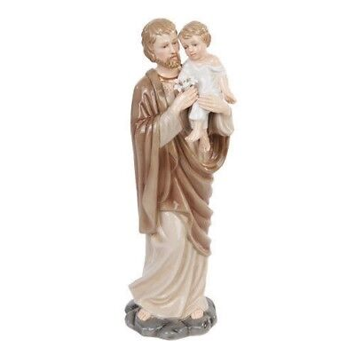 Famous Christian Statue Fine Porcelain Made Saint Joseph and Baby Jesus Figurine