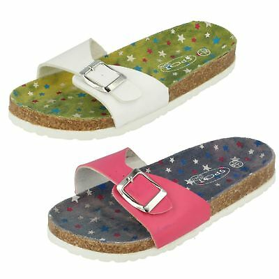 Girls H0133 slip on sandals by Spot On SALE NOW £2.99