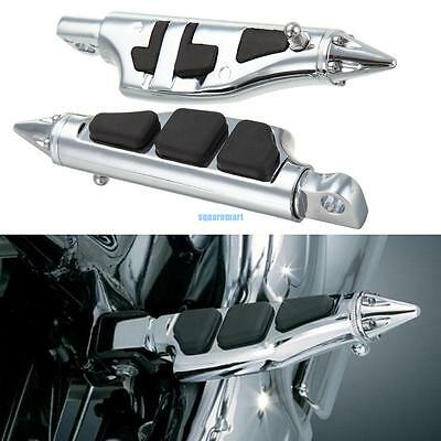 Pair Stiletto Pegs Repose-pieds Fits Harley Dyna Softail Sportster Glide Fat Boy