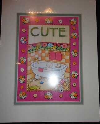 "Mary Engelbreit Double Mat Print ""Cute"" - New"