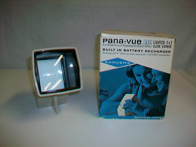 Vintage SAWYER'S PANA-VUE Lighted 2X2 Slide Viewer No. 2573