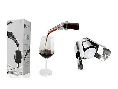 2 x Wine Aerator & Pourer + 3 x Champagne Stopper Bundle– Model AUS114