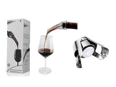 2x Wine Aerator & Pourer + 3x Champagne Stopper Bundle– Model AUS114