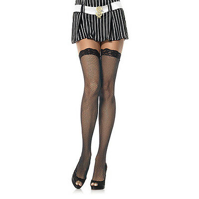 CALZE A RETE PLUS SIZE HOSIERY FISHNET STOCKINGS BLACK sexy shop toy