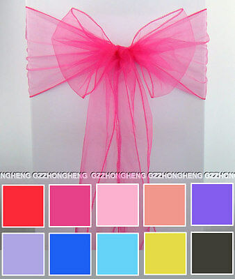 Organza Chair Cover Sash Sashes Bow Wedding Anniversary Party Reception Bows