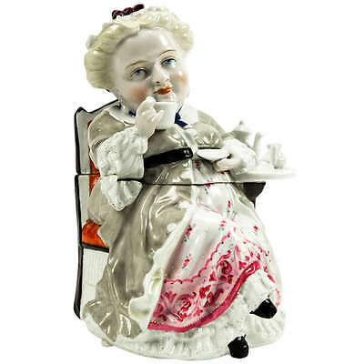 Rare Antique Figural Tea Caddy or Tobacco Box, France circa 1890s