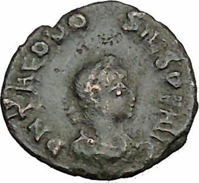 Theodosius I the Great Ancient Roman Coin Wreath of success i40422