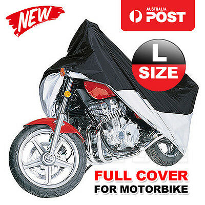 L Motorcycle Motorbike Waterproof Outdoor Rain Vented Bike Cover Large