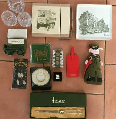 Harrods Gifts -Visitors Book - dish- crystal coaster- etc