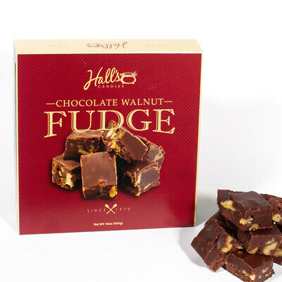 Hall's Chocolate Walnut Fudge, 1 Pound