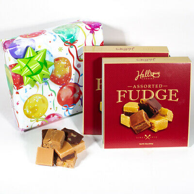 Birthday Balloons Fudge Gift Box, 2 Pounds Hall's Assorted Fudge