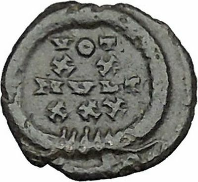 Constantius II Constantine I the Great son Ancient Roman Coin Wreath  i40427