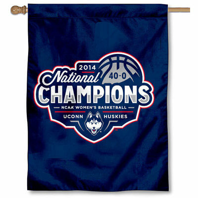 3a526c783 UCONN 2014 WOMEN'S Champs House and Banner Flag - $17.95 | PicClick