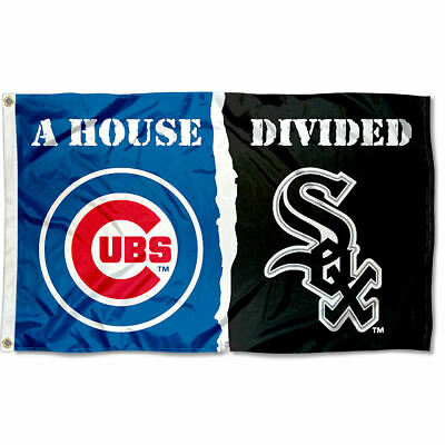 Chicago White Sox vs. Chicago Cubs House Divided Rivalry Flag