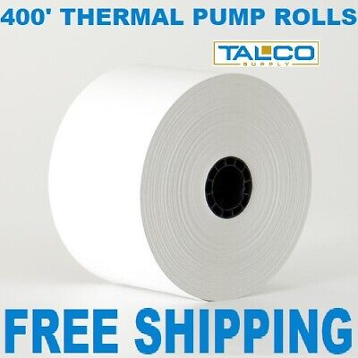 "GAS PUMP (2-9/32"" x 400') THERMAL RECEIPT PAPER - 12 NEW ROLLS **FREE SHIPPING**"
