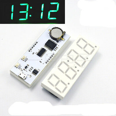 New Assemblyed 4 Digit LED Digital Electronic Clock DIY DS3231SN