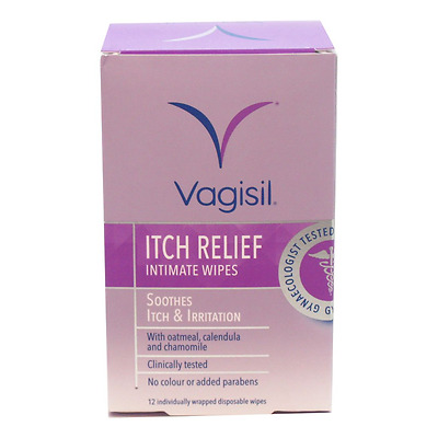Vagisil Itch Relief Intimate Wipes 12s