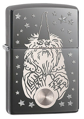 Zippo Black Ice Laser/Rotary Wizard Windproof Lighter 28644 New