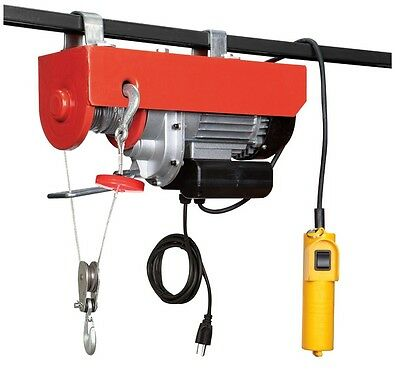 880Lb Industrial Power Electric Motorized Overhead Shop Ceiling Hoist Cable Lift