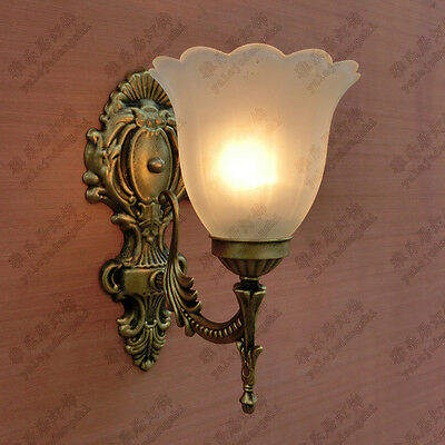 Traditional Antique Iron Scrolled Sconce Wall Light Lamp Lights shade Bathroom