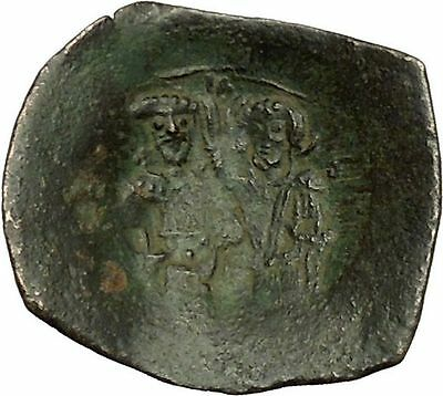 Manuel I Comnenus 1143AD Ancient Byzantine Coin Jesus Christ Virgin Mary i40316