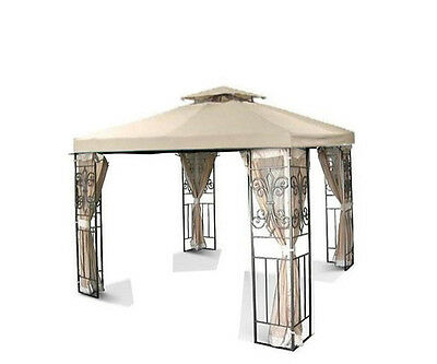 New 10x10 Two-tiered Replacement Gazebo Canopy Top Beig 10'x10' 2-tiers