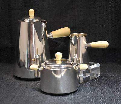 Danish A. Dragsted, Copenhagen, Sterling Silver Three-Piece Coffee set Mid 20thC