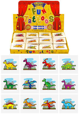576 Mini Dinosaur Temporary Tattoos: Wholesale Job Lot of 12 assorted designs