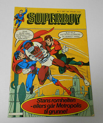 1977 SUPERBOY #7 FN+ Norwegian Foreign Comic MIKE GRELL