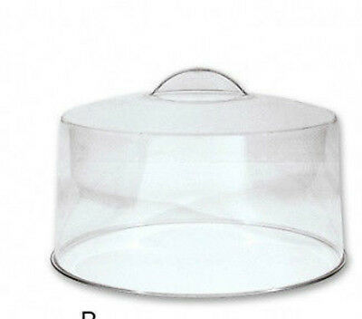 Cake Cover Dome Plastic 30cm / 300mm with 70mm High Stainless Steel Stand