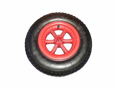 "RED SPOKED 14/"" Pneumatic 4 PLY Wheelbarrow Wheel Tyre 3.50-8 Inner Tube"