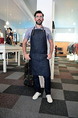 Faistos Full Denim Aprons, Heavy-duty, Multi-purpose Apron