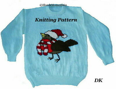 Knitted Robin Pattern For Christmas : CHRISTMAS TREE INTARSIA JUMPER KNITTING PATTERN