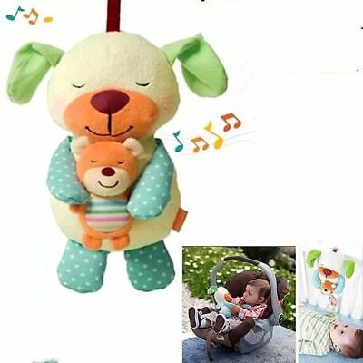 Infantino Soothe Snuggle Pup Musical Baby Soft Plush Toy 3 Soothing Sounds 0m+