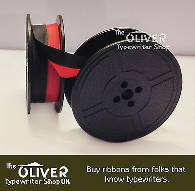 FACIT Typewriter Ribbon and Spool - (Black and Red)   **High Quality**