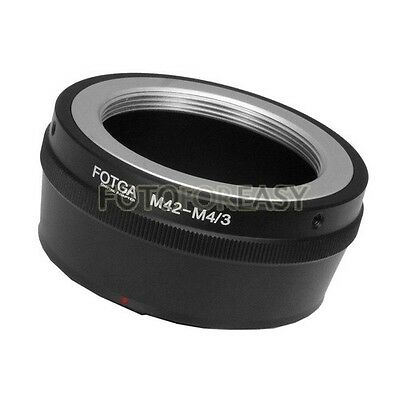 FOTGA M42 42mm Lens To Micro 4/3 m4/3 G1 GH1 GF1 EP1 EM5 G2 GF6 EPL5 EP5 Adapter