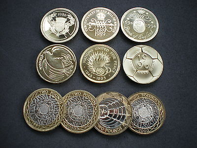 Royal Mint PROOF Two Pound Coin £2 1986 - 2020 Choose your Coin