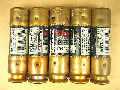 Bussman Fusetron -  FRN-R-2 -  Dual Element Time Delay Fuse (Lot of 5)