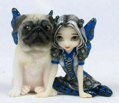 "Jasmine Griffith Strangeling Decor Pug Pixie Fairy Statue Figurine Small 3.5""H"