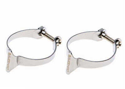 Genuine Dia-Compe Cable Clamps Chrome Pack of 2 x 28.6mm -  Old School Retro BMX