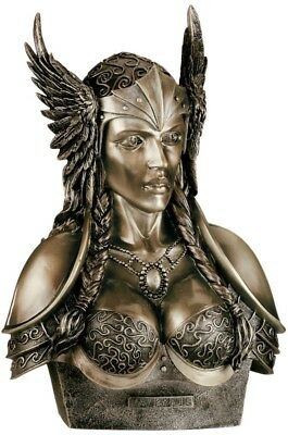 Norse Viking Decorative Valkyrie Goddess Large Bust Figurine Statue Paganism